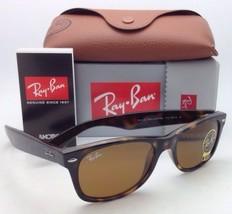 New Ray-Ban Sunglasses RB 2132 710 52-18 NEW WAYFARER Havana Frames Brown Lenses