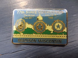 77th State Convention,Madison WISCONSIN,The Action Post Lions Club 1995 ... - $14.25