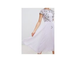 Frock & Frill Capped Sleeve Midi Dress With Embellished  Dresses US 4 NWT - $88.11