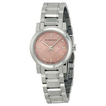NEW Burberry Diamond Pink Dial Stainless Steel Ladies Watch BU9223, - $321.75