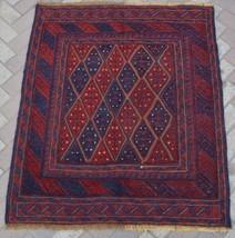 A830B, Vintage Afghan Tribal Mishwani Rug Kilim 3'8 x 4'4 Turkish Ethnic... - $139.70