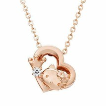 [White clover] 45th anniversary of Hello Kitty necklace Open Heart pink ... - $166.73