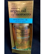 ORGANIX RENEWING ARGAN OIL OF MOROCCO PENETRATING OIL ALL HAIR TYPES 3.3... - $7.91