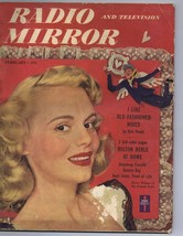 ORIGINAL Vintage February 1950 TV Radio Mirror Magazine Marie Wilson  - $18.51