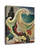 "Cartoon Art Home Decor Oil Painting Print On Canvas ""Fish And Ocean Waves"" - $13.06+"