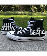 The Beatles Abbey Road Converse All Star Custom Hand Painted Canvas Snea... - $139.00