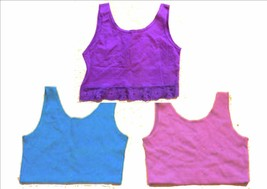Sz M/L - One World Low Back Sleeveless Crop Tops in Blue or Purple - $15.29