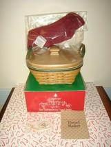 Longaberger 2005 Christmas Tinsel Tree Trimming Basket Combo & Lid - $48.99