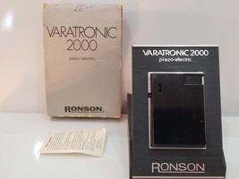 NEW Working VARATRONIC 2000 PIEZO-ELECTRIC RONSON Black Tone Lighter, OR... - $76.23