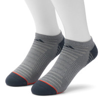 Adidas Superlite Climalite 2 pair No Show Cut Socks Gray/Orange Men's sz... - $15.99