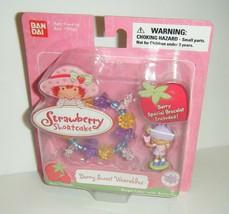 BanDai Strawberry Shortcake Angel Cake w/Butterfly Berry Wearables Bracelet - $14.85