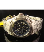 NEW INVICTA MEN RARE 6855 BLUE DIAL S. STEEL SWISS QUARTZ II COLLECTION CHRONO - $169.99
