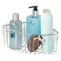 InterDesign Rondo Metal Wire Suction Bathroom Shower Caddy Corner Basket... - $14.33