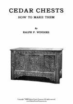 Make Cedar Chests Book Titanic Era How to 1918 WWI DIY - $12.99
