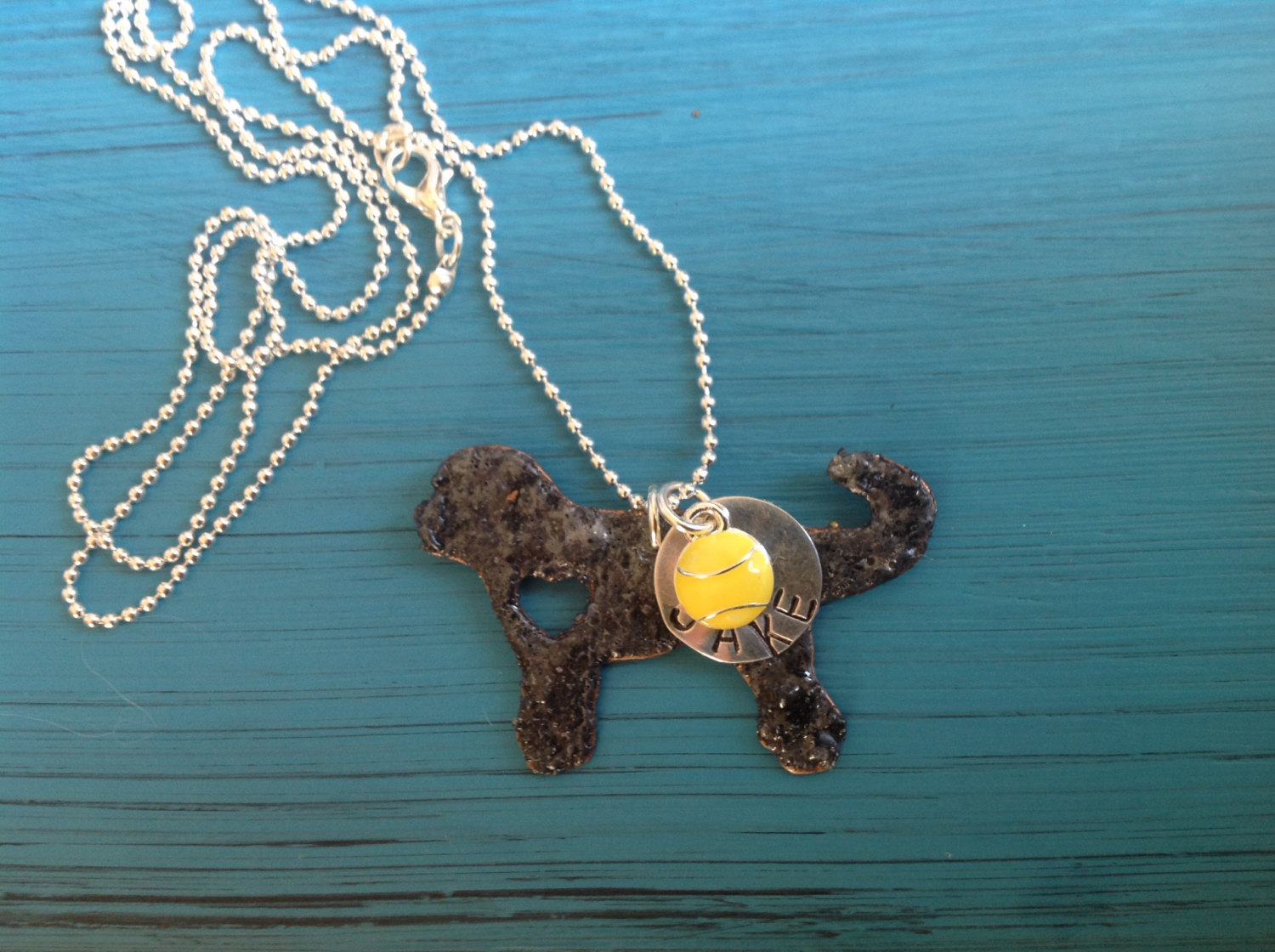 NEW Labradoodle Goldendoodle Custom Copper Necklace Dog Lover.  Personalized.  Y