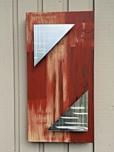 Wall art painting with metal Sculpture Abstract Home Decor by Holly Lentz - $99.00