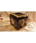 VNT. SUN~MOON~STARS Tissue Box Kleenex Holder Cover Hemisphere Art Heavy... - $14.85