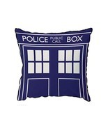 "Doctor Who TARDIS Throw Pillow - Square Cushion - 16"" x 16"" - £18.35 GBP"