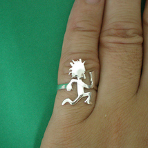 Handmade 925 Sterling Silver Hatchetman Wedding Ring Band - $42.00