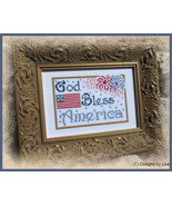 God Bless America cross stitch chart Designs by Lisa - $6.30