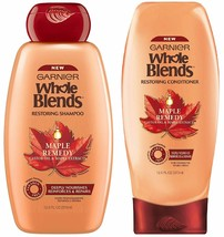 2 Pack Garnier Whole Blends Maple Remedy Shampoo & Conditioner - $22.77