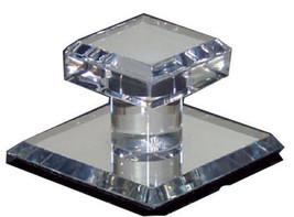 "Clear Acrylic Stick-On Mirror Knob - 1-3/4"" Square - $9.95"