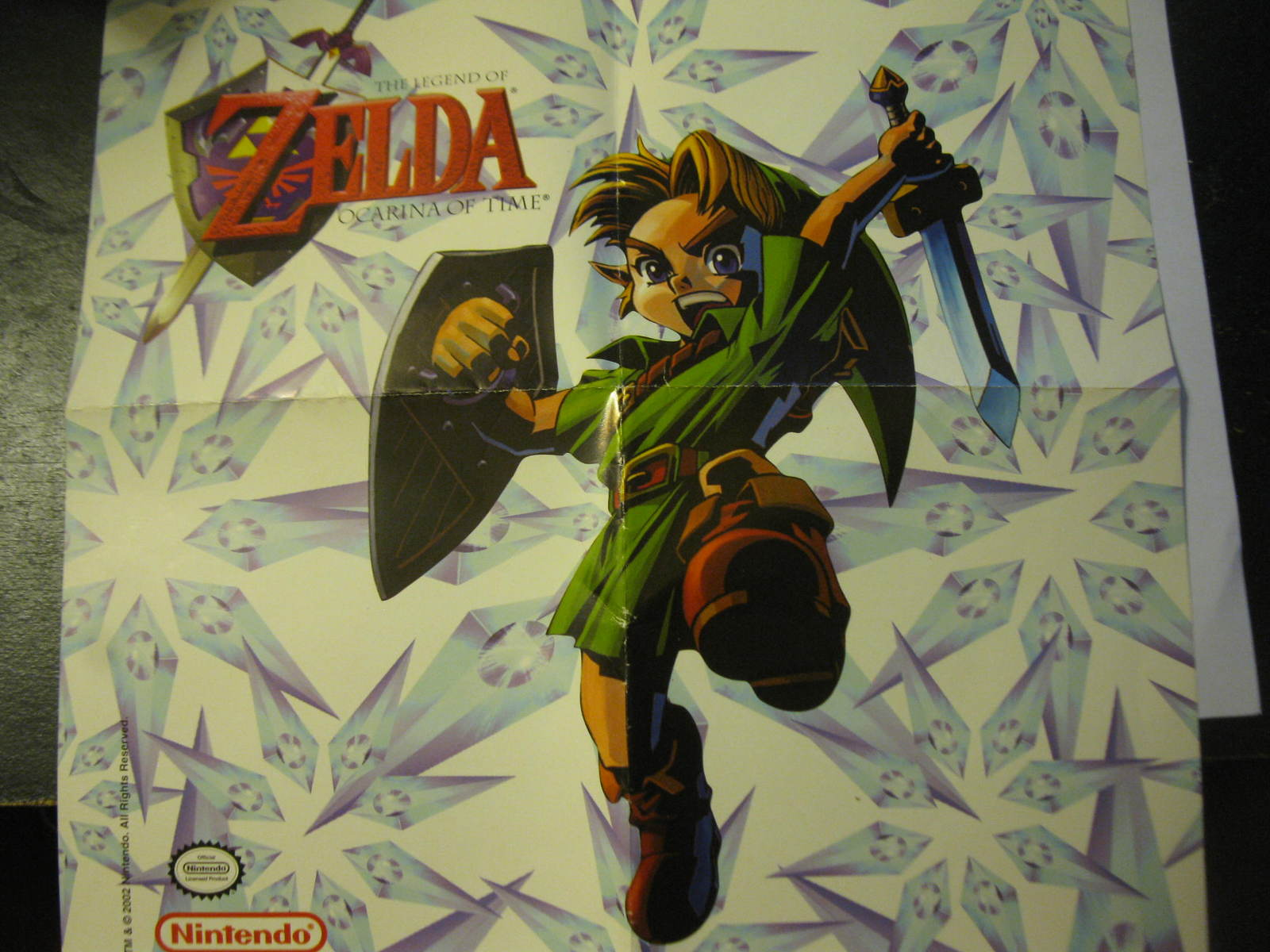 "Primary image for (MX-5) Vintage Nintendo 64 Poster: Legend of Zelda Ocarina of Time - 12"" x 12"""