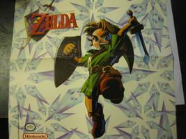 """(MX-5) Vintage Nintendo 64 Poster: Legend of Zelda Ocarina of Time - 12"""" x 12"""" - $5.00"""