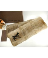 LOUIS VUITTON Echarpe Rabbit Fur Muffler Scarf Brown M70925 R12 - $2,168.10
