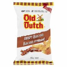 1 Bag Old Dutch Crispy Bacon Chips LARGE Size 255g From Canada FRESH DEL... - $13.32
