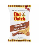 1 Bag Old Dutch Crispy Bacon Chips LARGE Size 255g From Canada FRESH DELICIOUS! - $13.32