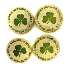 Wood Tokens Hibernia Marching Society Mississippi 1993-94 Creel Hewes Lo... - $12.71