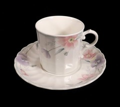 Mikasa Maxima Tremont Cup & Saucer Lovely Pink & Purple Floral-3 Available - $8.49