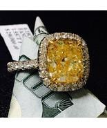 7.74 Quilate vs Fantasía Amarillo Almohadón Anillo de Compromiso Diamant... - £65,710.64 GBP
