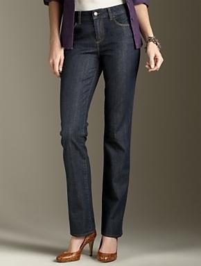 Nwt TALBOTS Signature fit straight leg blue jeans $95 14WP  Talbots