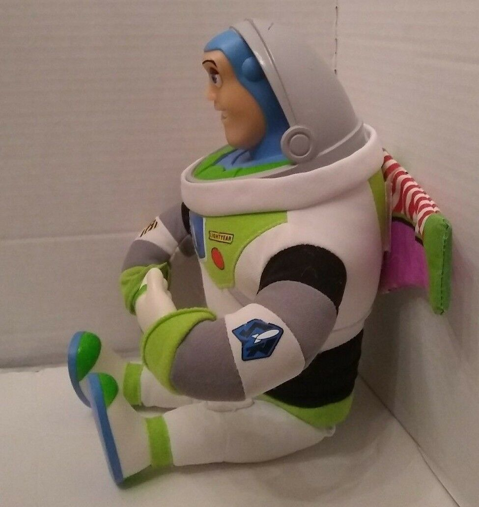 Buzz Lightyear Soft Doll Vinyl Hard Face & Hands Toy Story Walt Disney World 13""
