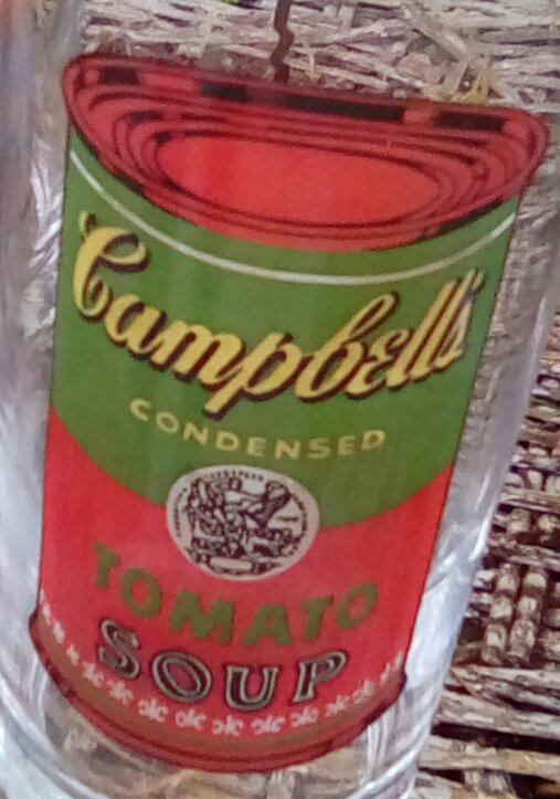 Vintage Andy Warhol Campbell's Soup Drinking Glasses.  G - 038