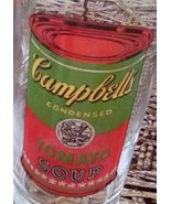 Vintage Andy Warhol Campbell's Soup Drinking Glasses.  G - 038 - $80.00