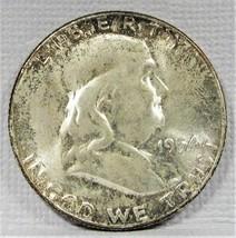 1954-P Franklin Half Dollar Nice Original Bloom VCH UNC FBL AD588 - $56.05