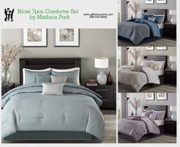 Madison Park Biloxi 7 Piece Comforter Set in Blue, Navy, Purple, Silver - $115.00+