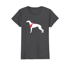 Greyhound Wearing Red Bandana Dog Silhouette T-Shirt - $19.99+
