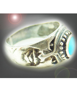 HAUNTED FACES RING APROTROPAIC MAGICK BANISH ALL EVIL OFFERS EVIL 7 SCHOLARS - $31,962.64