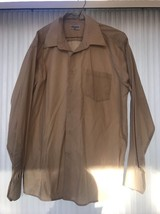 Mens Shirt Size L(16-16.5 34/35) Berlioni ITALY Long Sleeve Ships N 24h - $21.76