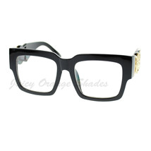 Oversize Thick Square Clear Lens Glasses Hip Designer Fashion - $8.95
