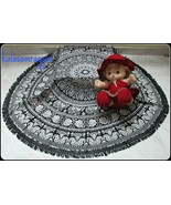 Indian Mandala Round Elephant Tapestry Wall Hanging Summer Beach Throw T... - $13.45