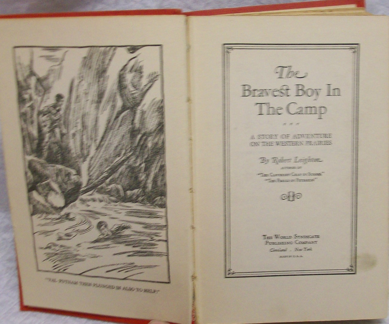 The Bravest Boy in Camp  Robert Leighton