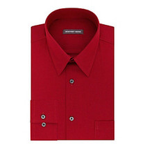 Geoffrey Beene Rouge Red Stripe Regular Fit Long Sleeve Dress Shir - $21.95