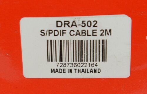 Hosa Technology DRA502 SPDIF Coaxial Cable 2M True 75 Ohm