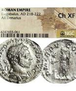 Elagabal NGC Auswahl Selten Letzte Münze Alte Römische Imperial Silber D... - $269.10