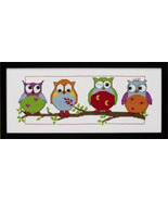 Owl Friends kit counted cross stitch Permin of ... - $28.80